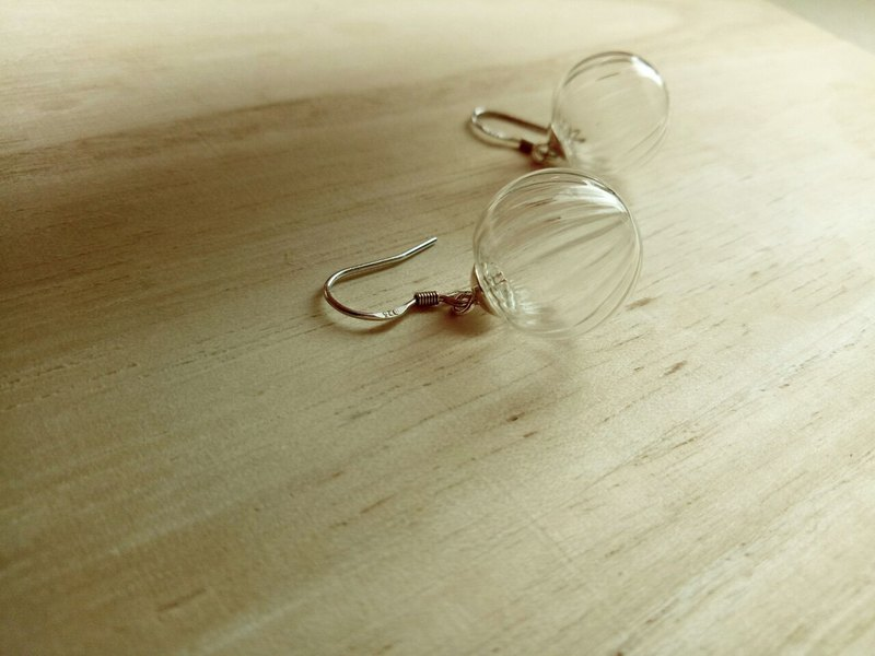 Vintage glass ball earrings (925 silver)