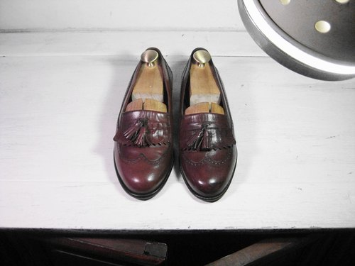 ~ ~ After garden vintage brown flow Sule Fu shoes (size 42-43 men wear No.)