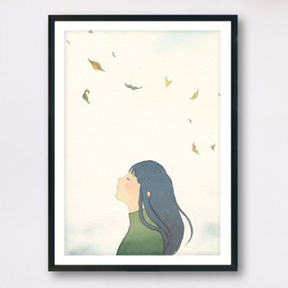 <Feel> - Slow living collection/ Art print (with cardboard frame) Wall decor
