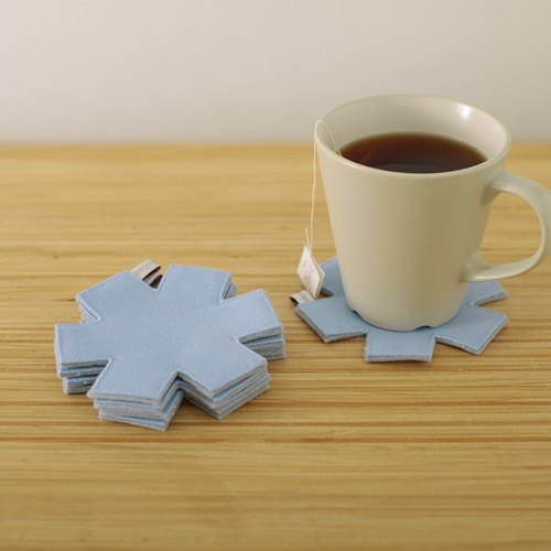 Limited snowflakes coaster set - blue color / five