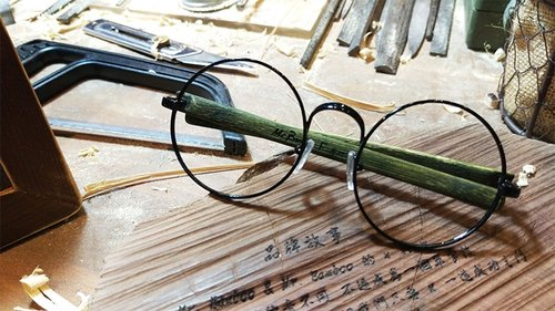 Mr.Banboo F series by cold metal encounter with a temperature of bamboo story] Taiwan handmade glasses