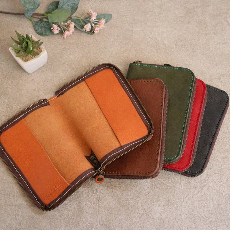 [Japanese leather products] Zip-type book cover st-33 created upon request [Please select the color from the following product types]