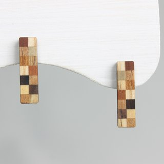 Parquet small rectangle earrings