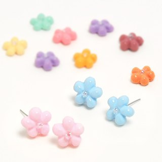 Ear pins/ear clips in the garden (9 colors available)