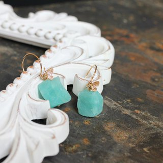 Play color Dieer Tianhe original earrings / Color butterfly rough amazonite earring. Mother's Day Christmas Valentine's Day birthday gift