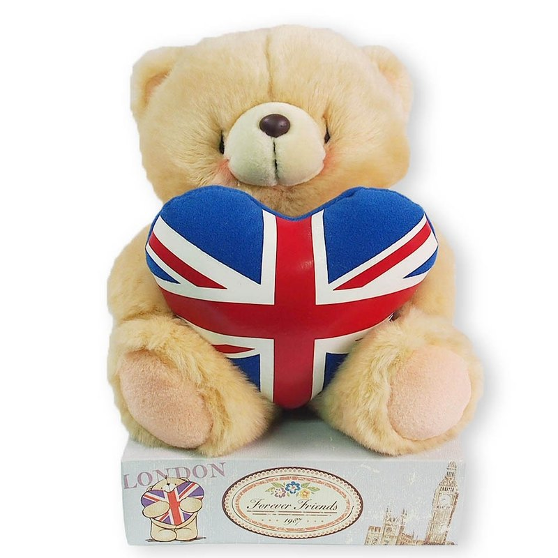 8 吋 / I love the British fluffy bear [Hallmark-ForeverFriends fluff - Dresser Series]