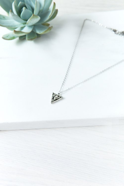 Triangle Pyrite Necklace