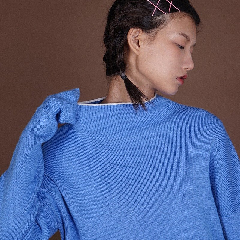 LLANO knit sweater shop Series - Light Blue