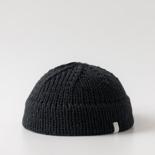 K005 Hand-knitted Short Short Cap Hat Sailor Cap - Black