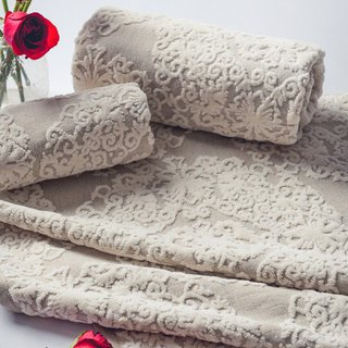 Flower Full Moon - Made in Portugal Three-Piece Towels - Towels Limited Sale
