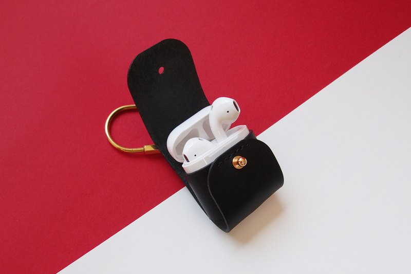 Airpods / airpods2 / leather case / leather / leather hand made / elegant black