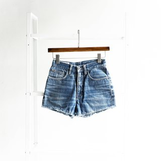 River water mountain - blue way W25 world ocean play hand cotton tannin antique shorts ancient leather denim pants vintage