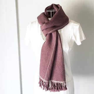 "Unisex hand-woven scarf ""Purple with White lines"""