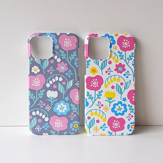 Plastic iPhone case - Spring Pastel Flowers -