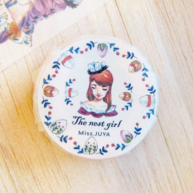 """Bird's Nest Girl"" paper tape"