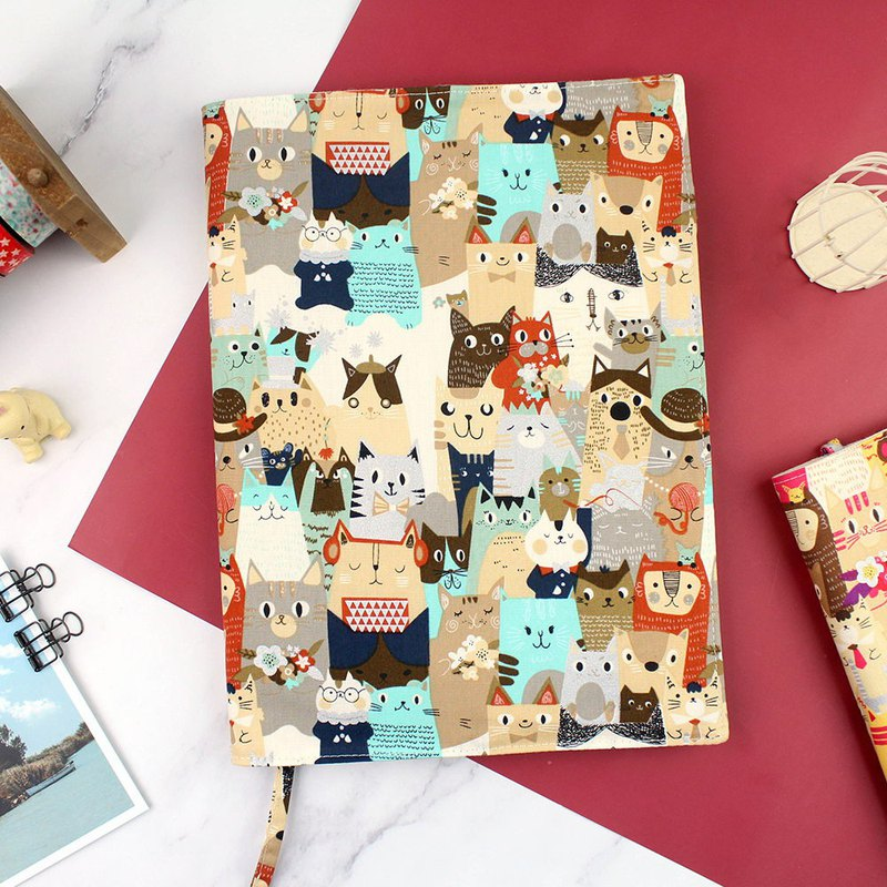 B5 / 18K Taiwan flower cloth multifunctional adjustable book cover / book cover / book cover / magazine applicable-04 welcome home