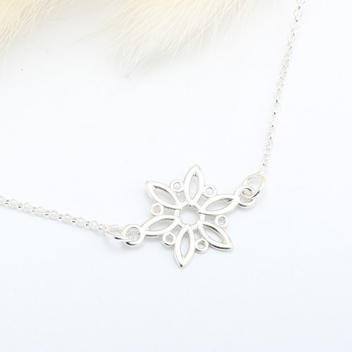 Winter Snowflake snow s925 sterling silver necklace Valentine's Day gift