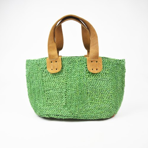 Green river water grass basket _ grass green _ fair trade