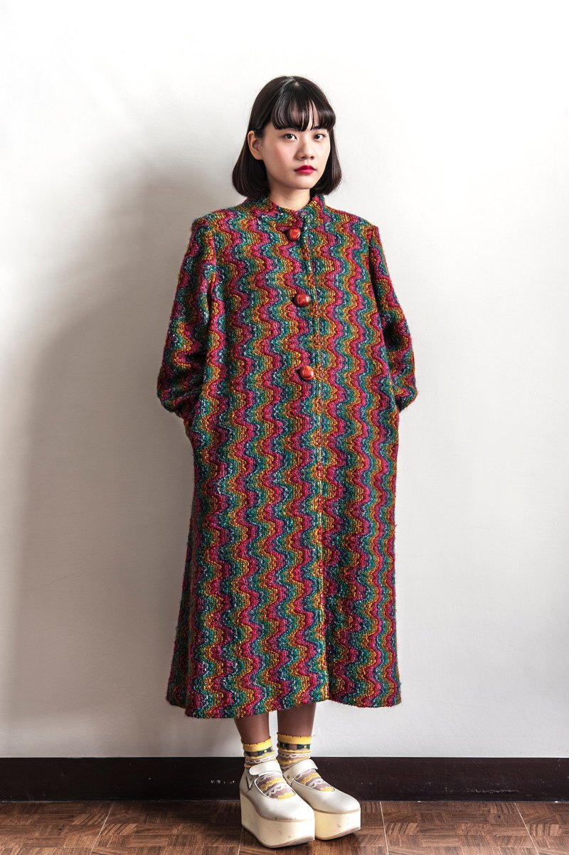 Vintage curved rainbow vintage coat