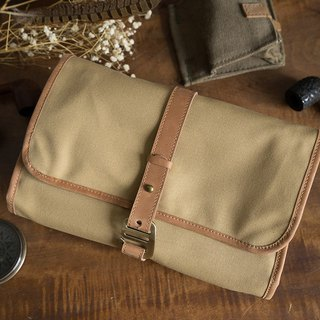 Travel wash storage bag / kit khaki