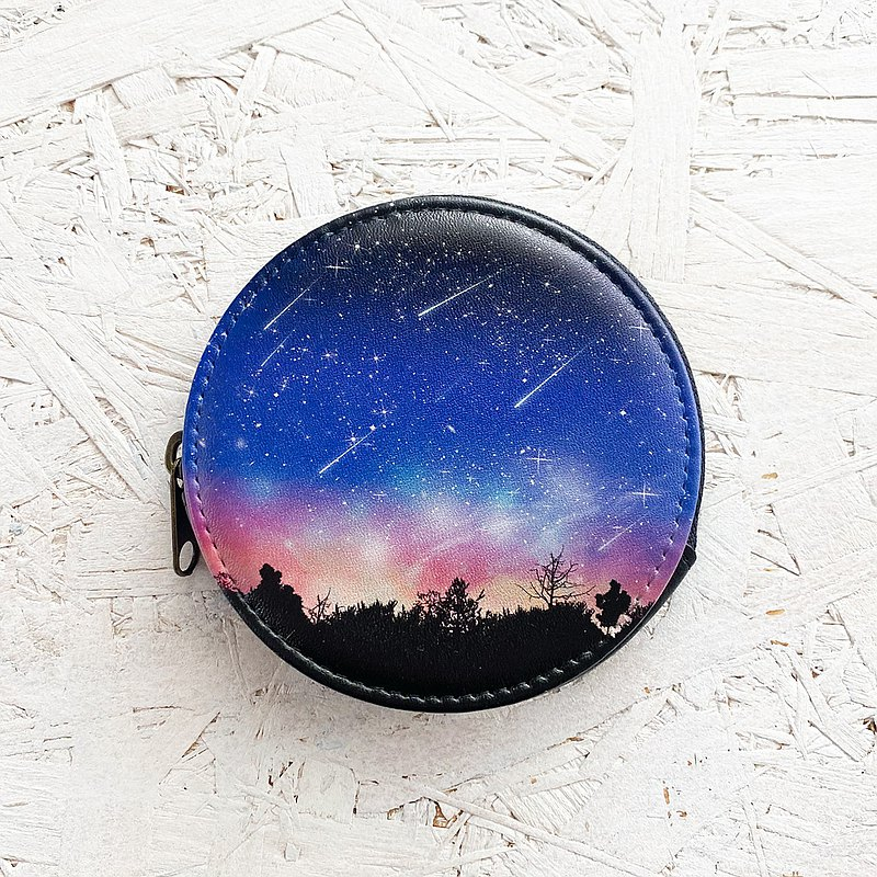 Coin Case Sunset Meteor / Coin purse / Wallet / accessory case / starry sky