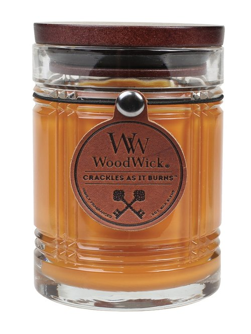 [VIVAWANG] WW10oz male fragrance candle (sepia leather) ● nostalgic warm sandalwood elegant leather binding