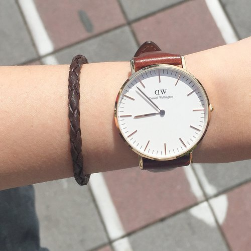 Watch partner (in) | coffee | leather bracelet
