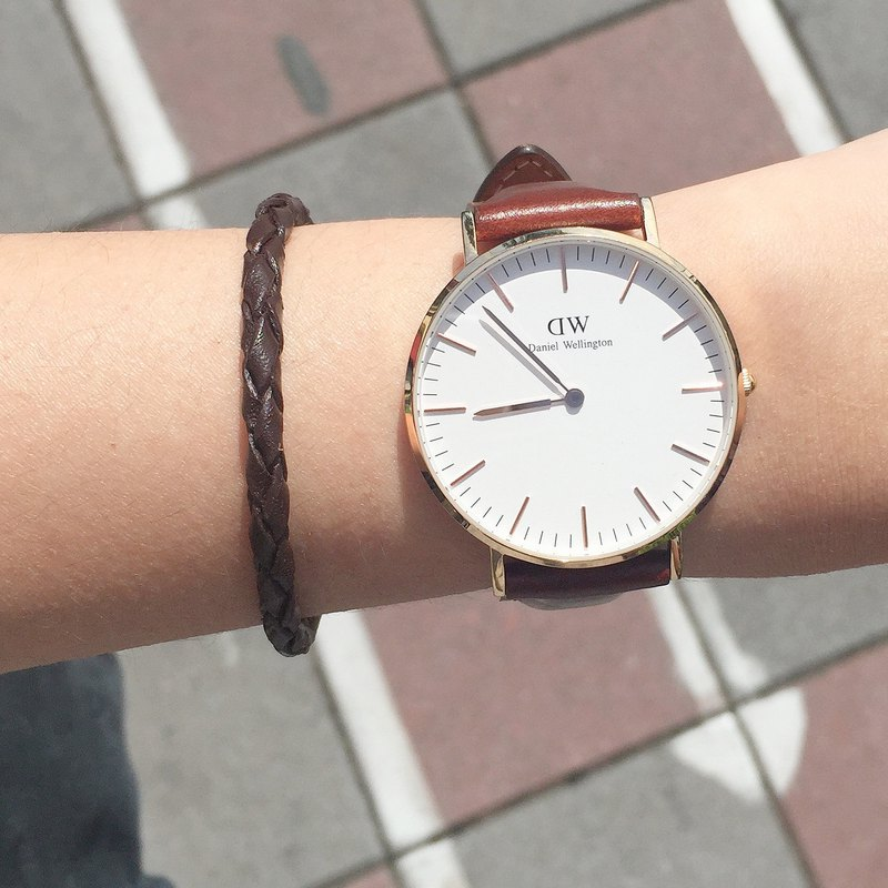 Watch Partner (中) | Coffee | Leather Cord Bracelet