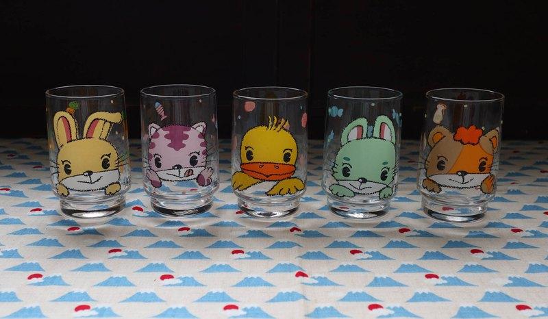 早期水杯組-可愛動物園