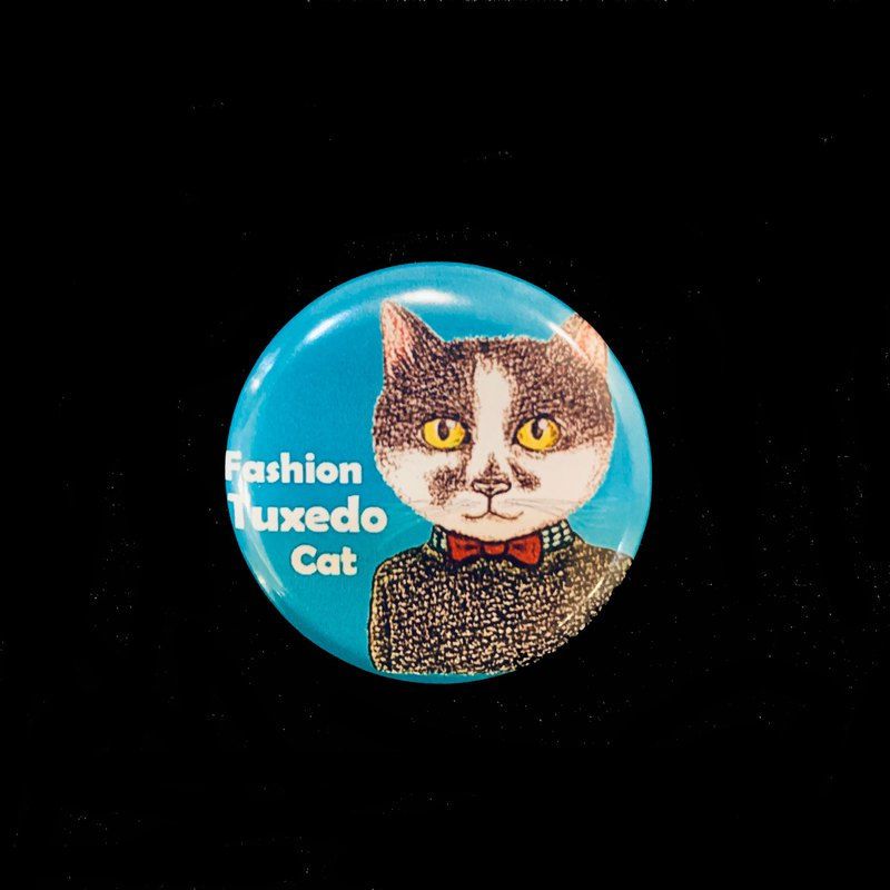 Hand-painted illustration small badge pin badge | fashion cats and dogs ~ Binx cat