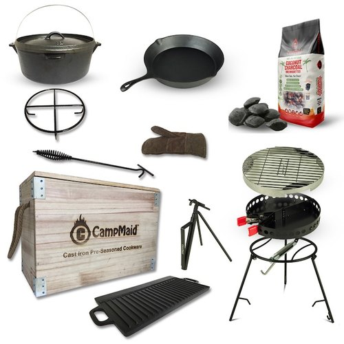 US Campmaid multi - purpose outdoor camping barbecue wooden box value group