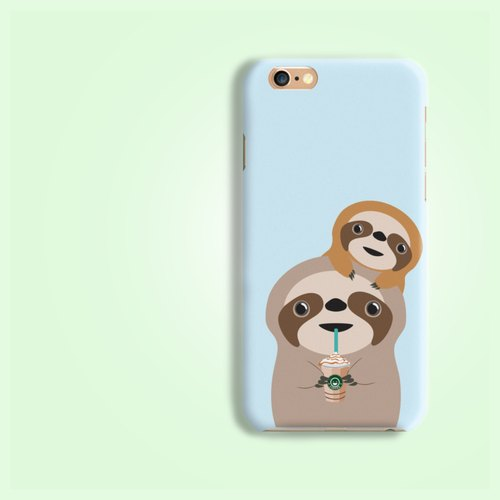 Sloth Drink starbucks pattern rigid hard Phone Case Cover  for iPhone 5 5S SE 6 6S 7 7 Plus Samsung Galaxy S6 S7 edge Note 4 5 HTCA8 A9 M8 M9 V10 Desire LG V10 V20 Nexus HTGNP94