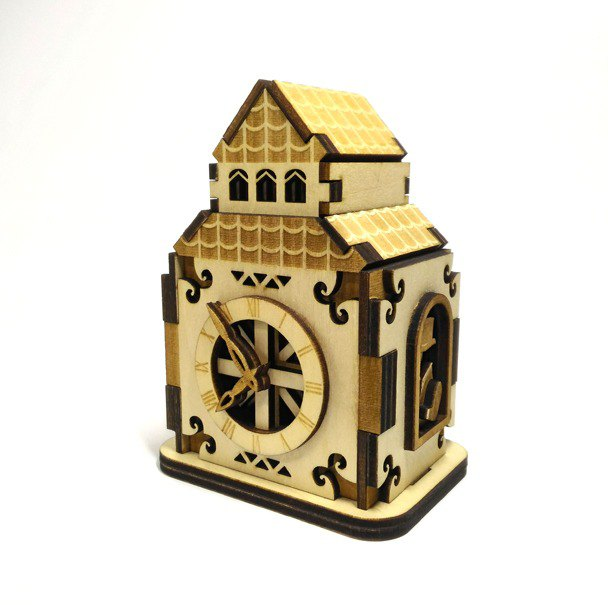 【Ancient clock - music box】 elegant British clock