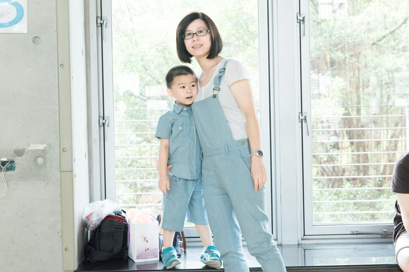 Parent-child suspenders pants - mother hand-made parent-friendly non-toxic suspenders