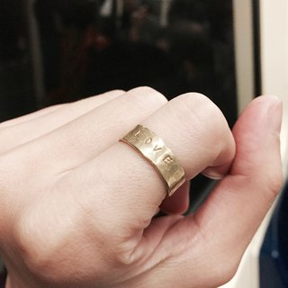Brass word ring or type C ring
