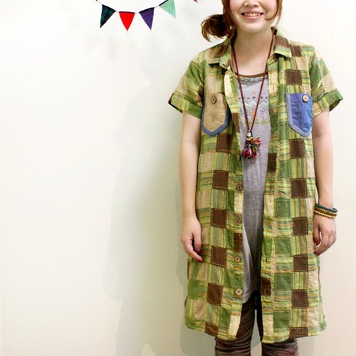 ☆ Hammock ☆ 彡 colorful patch work shirt