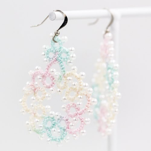 Increase national version of the octagonal flower earrings - fantasy