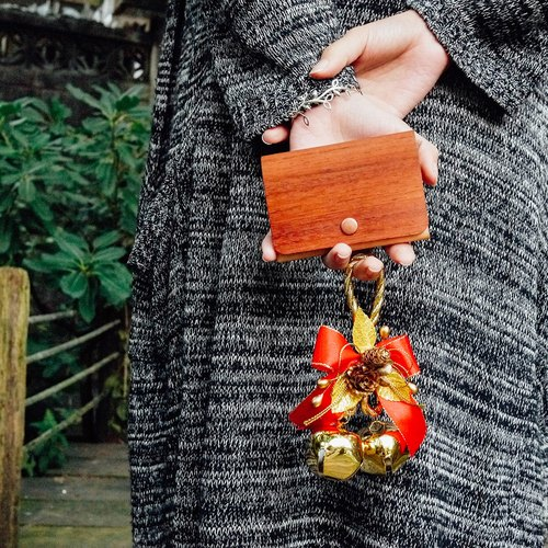 【TREETHER】 African Padauk Name Card Case
