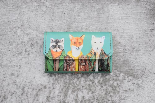 Handmade Paper Purse - Fox friends