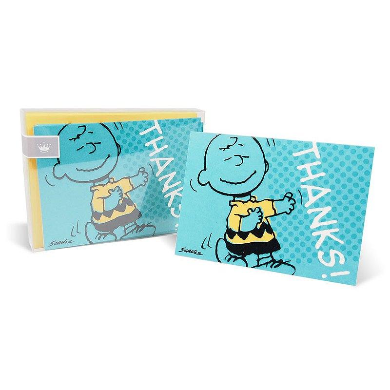 Snoopy精裝盒卡-查理布朗【Hallmark-Peanuts 無限感謝】