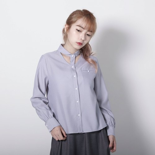 Kant Conde hollow striped shirt _7SF102_ gray stripes
