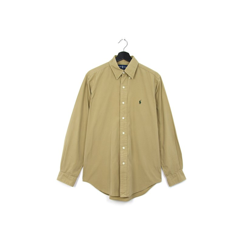 Back to Green::Polo Ralph Lauren 卡其 //vintage shirt