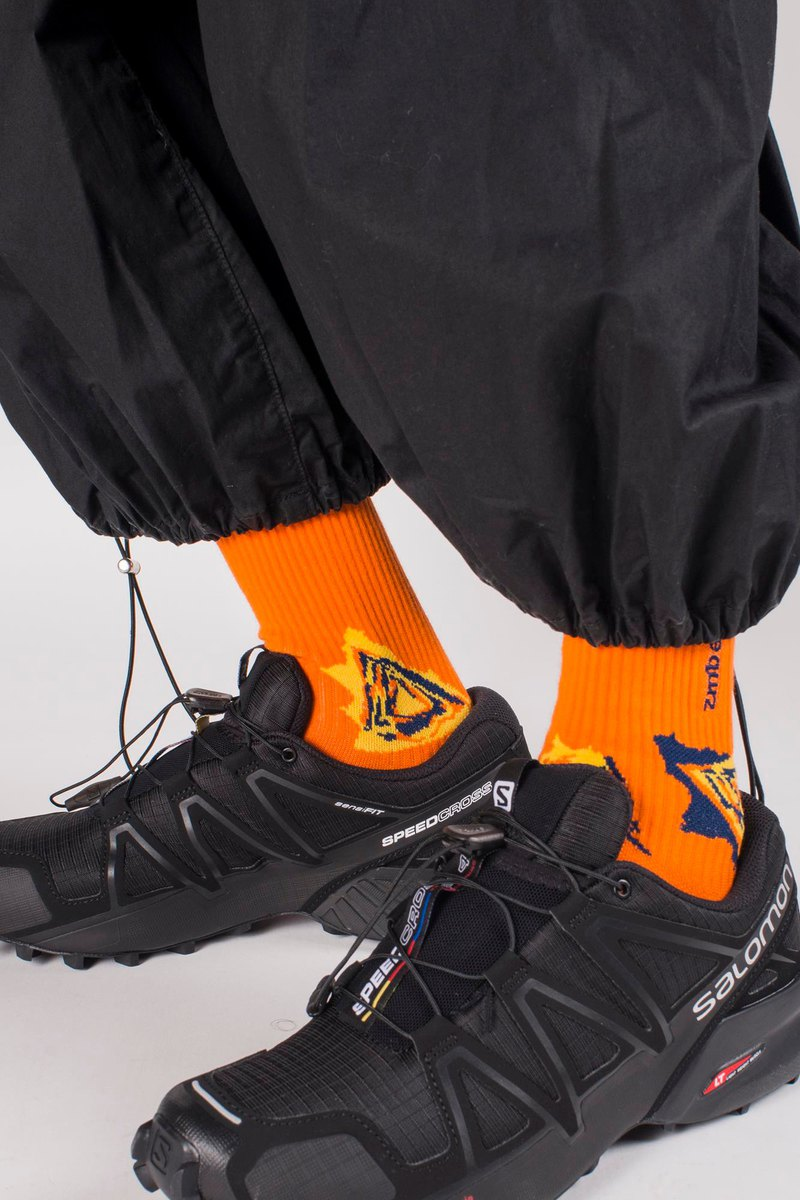 Fluor Orange - SPEED S1 Crew socks