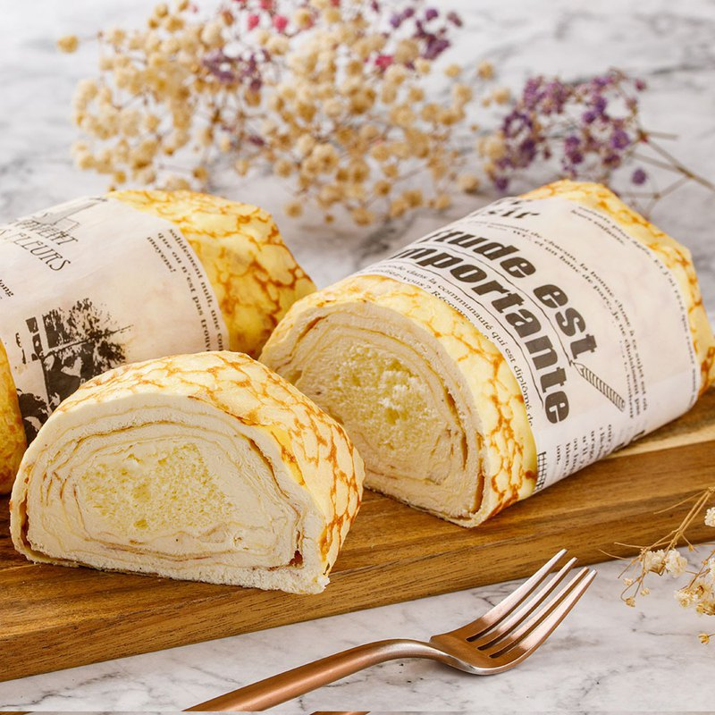 Ai Bosuo [French raw milk cake Melaleuca roll] classic original raw milk fragrance without a drop of water filling