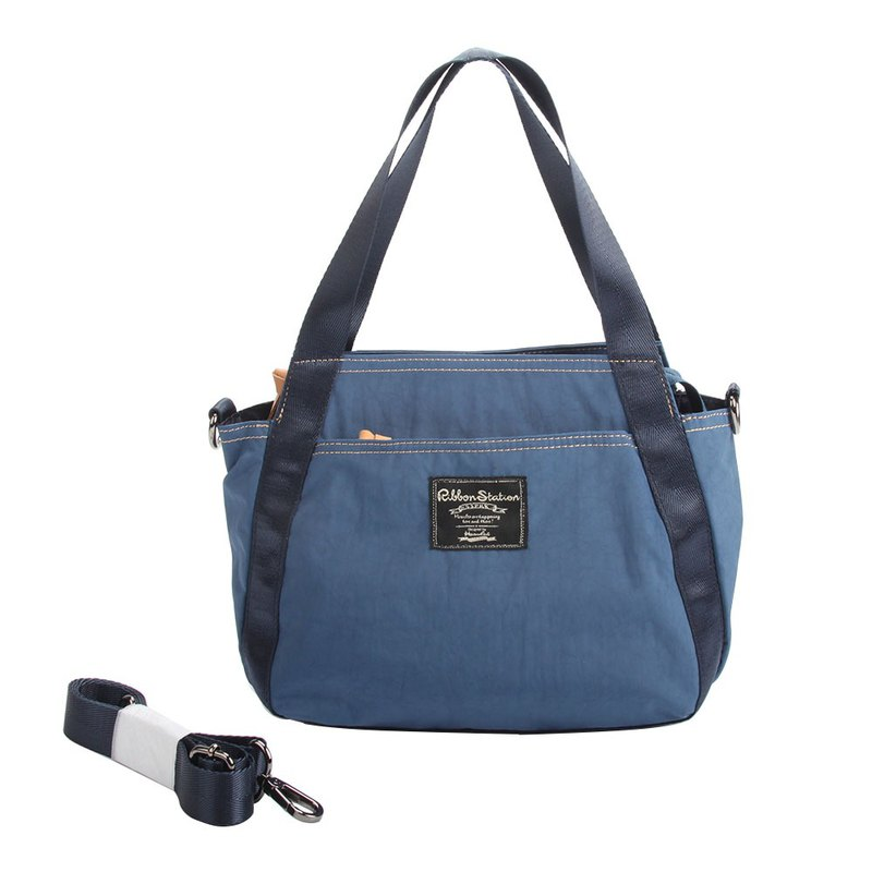 Blue blue sky nylon 2ways handbag