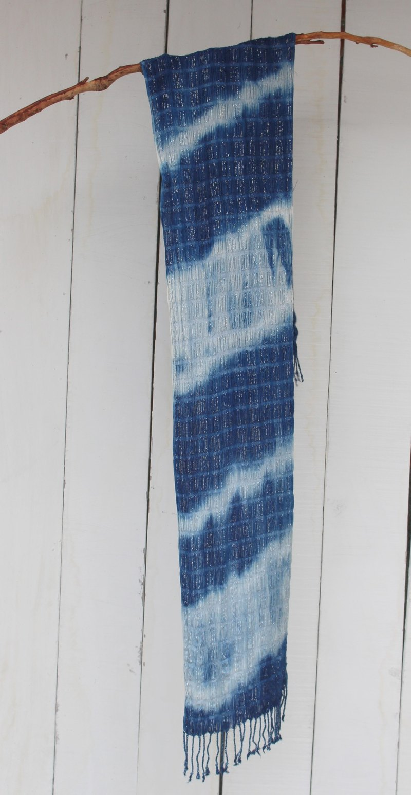 Free to stain isvara blue dye cotton scarf energy series fluctuations