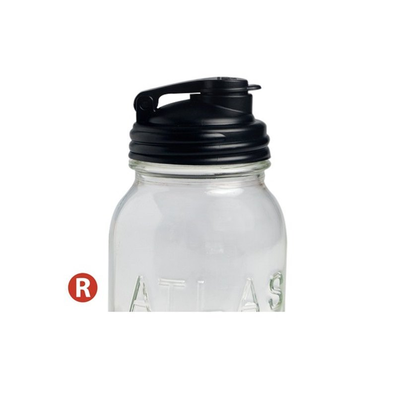 reCAP POUR-Mason tank narrow mouth black drink cup lid