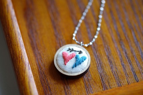 CaCa Crafts | True Love Embroidered Necklace