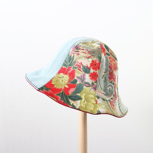 JOJA [limited] Japan gold totem x light cowboy x red double-sided flower-shaped cap