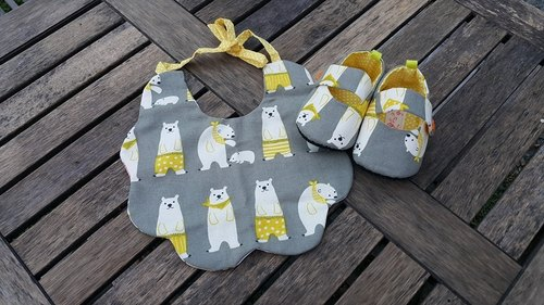 Baby polar bear births gift two groups (12cm) [] SET160209